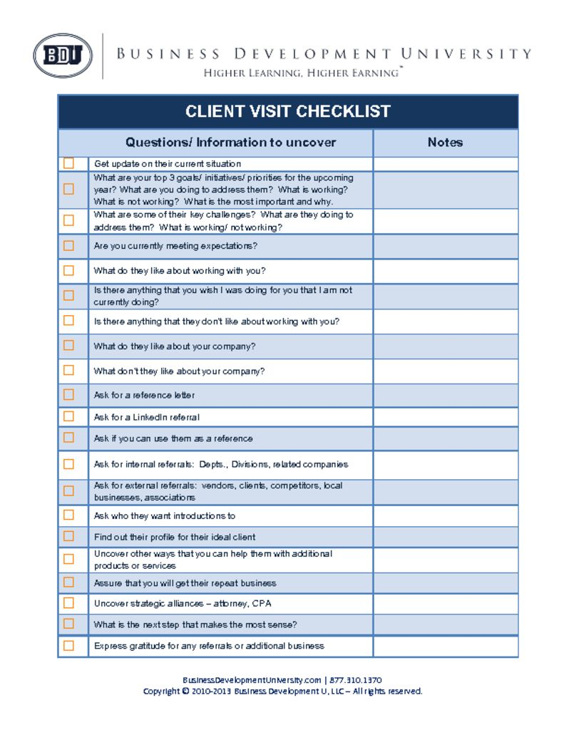 thumbnail of BDU Client Visit Checklist