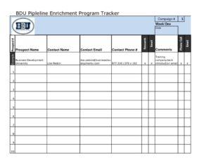 thumbnail of BDU Pipeline Enrichment Program Tracker