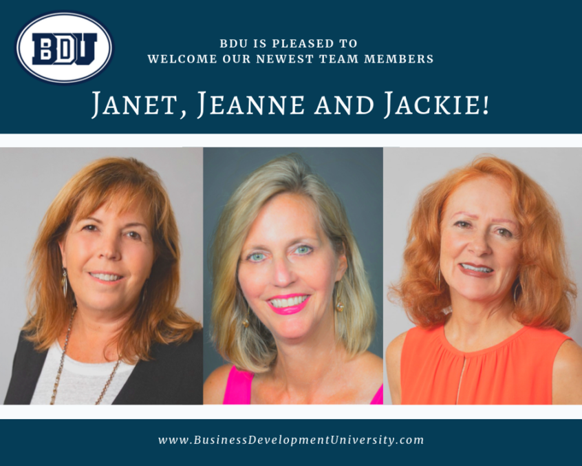 Welcome Janet, Jeanne and Jackie!